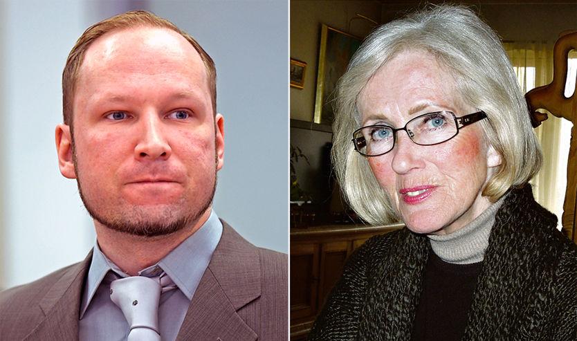 MOR OG SØNN: Wenche Behring Breivik døde 22. mars. Til forfatter Åsne Seierstad forteller hun åpent om sønnens Anders Behring Breiviks handlinger. Foto: HELGE MIKALSEN/MARIT CHRISTENSEN