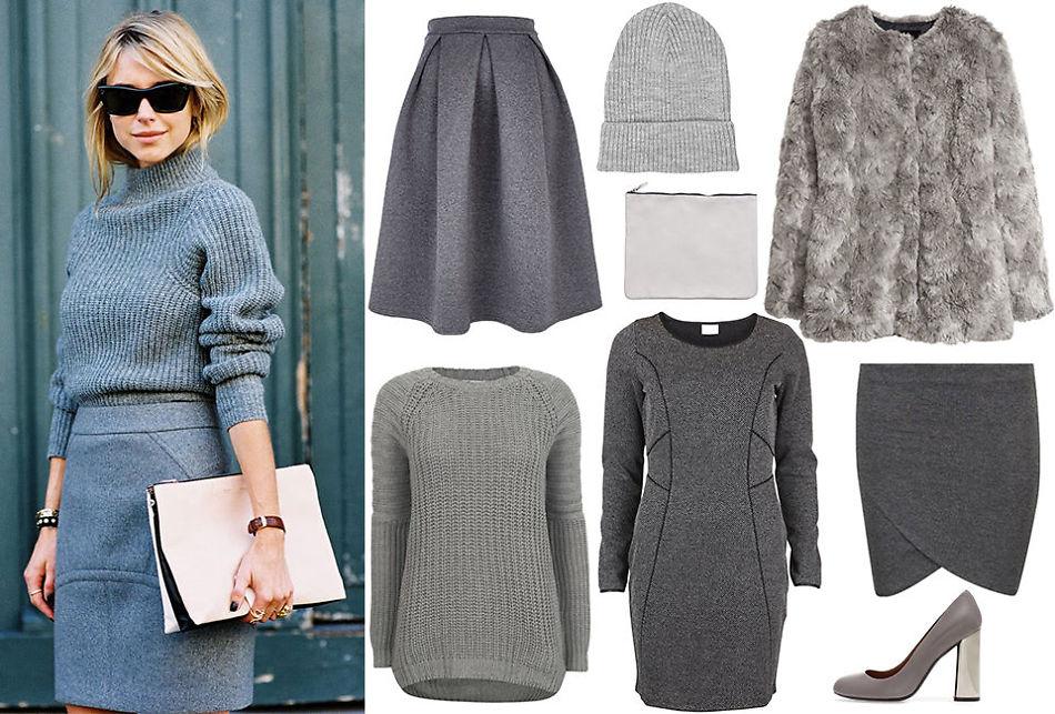 2c03a579 GRÅTONER: Bli inspirert av måten den danske bloggeren Pernille Teisbæk  styler de grå plaggene.