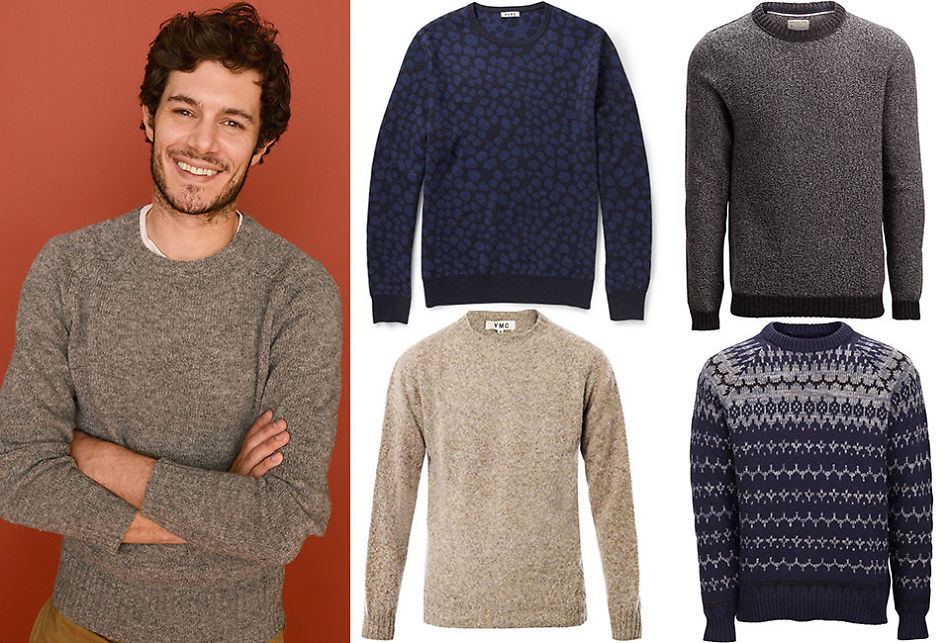 594dc9f3 KLASSISK: Invester gjerne i en tidløs genser à la den skuespiller Adam  Brody har.