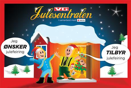 ÅPNER I DAG: #Julesentralen lanseres i dag i ny drakt, men har samme funksjon som i fjor: Koble nordmenn som ikke vil være alene på julaften med folk som vil åpne hjemmene sine. Foto: Grafikk: KENNETH LAUVENG