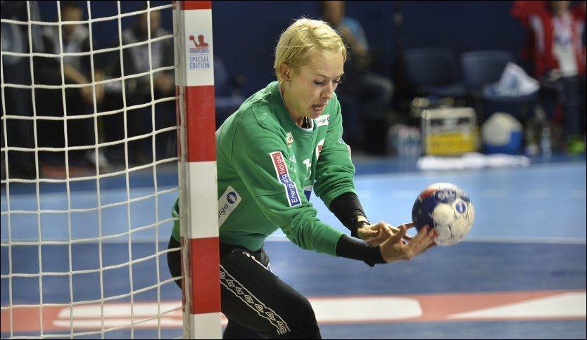 SUPERKEEPER: Norge fikk føle hvor viktig Katrine Lunde er da det ble seier i åpningskampen i VM. Foto: Bjørn S. Delebekk.
