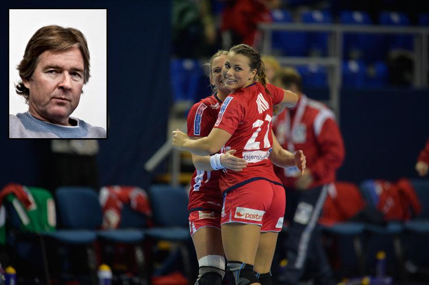 SLIPPER NORGE INN MÅL? VG-ekspert Gunnar Pettersen (innfelt) mener Nora Mørk og resten av håndballjentene bør ha ambisjoner om ikke å slippe inn mål mot Paraguay. Det trodde han aldri at han kom til å si om en kamp i et VM. Foto: Bjørn S. Delebekk