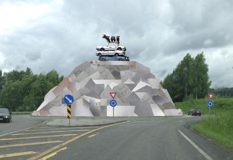 FOR DYRT: Dette kunstverket av rustfrie stålplater ville ha blitt for kostbart å produsere. Foto: Illustrasjonsfoto Morten Viskum og Kasper Viskum.