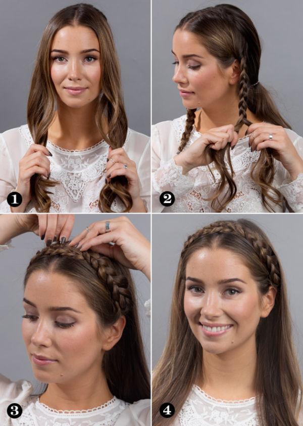 enkle frisyrer for langt hår