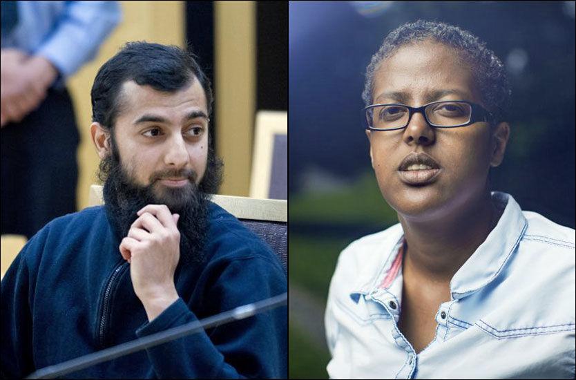 NEKTER STRAFFSKYLD: Islamistlederen Ubaydullah Hussain (28) er tiltalt for trusler, diskriminerende og hatfulle ytringer - deriblant mot to journalister og forfatteren Amal Aden. I slutten av januar starter straffesaken mot ham i Oslo tingrett. Foto: FRODE HANSEN/KYRRE LIEN