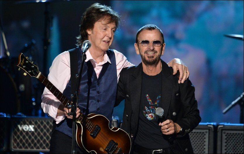 FEIRET SEG SELV: 9. februar er det nøyaktig 50 år siden Paul McCartney og Ringo Starr og resten av The Beatles gjestet «The Ed Sullivan Show». Foto: AFP