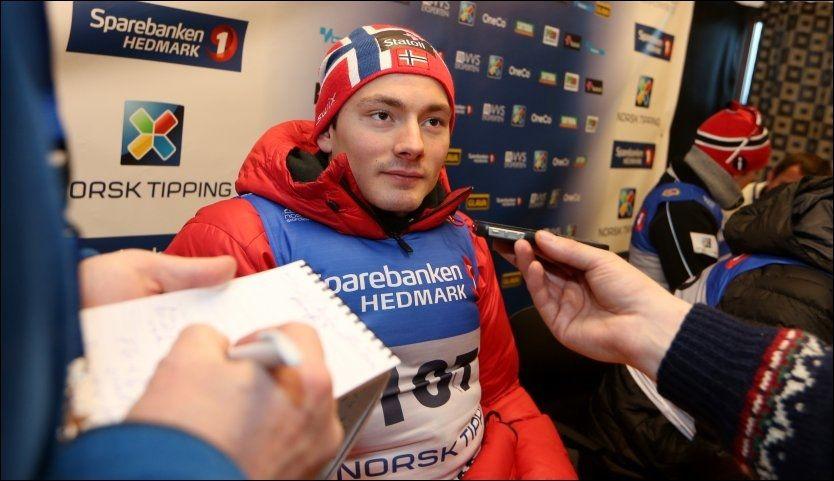 MISTET PLASSEN: Finn Hågen Krogh, her under NM i fjor, skal ikke gå OL-sprinten. Foto: NTB Scanpix