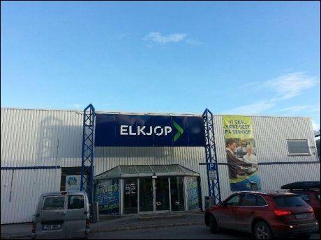 KORRIGERT: Elkjøp sørget senere på tirsdag for å dokumentere at navnet på butikken i Bodø var stavet riktig. Foto: Elkjøp