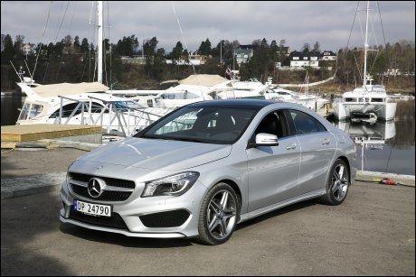 POPULÆR MINI-MERCEDES: Også Mercedes CLA ble solgt dyrere som brukt enn ny en periode ifjor. Foto: Jan Petter Lynau Foto:
