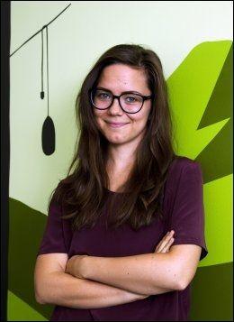 MEDIEVITER: Ida Aalen har skrevet bok om sosiale medier. Foto: Øyvind Bjørkum/VG