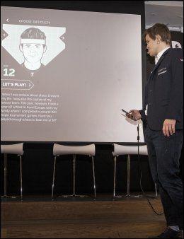 FRA 5 til 23: Du kan møte den utgaven du selv ønsker av Magnus Carlsen fra 5 til 23 år. Selv valgte verdensmesteren 12-åringen.