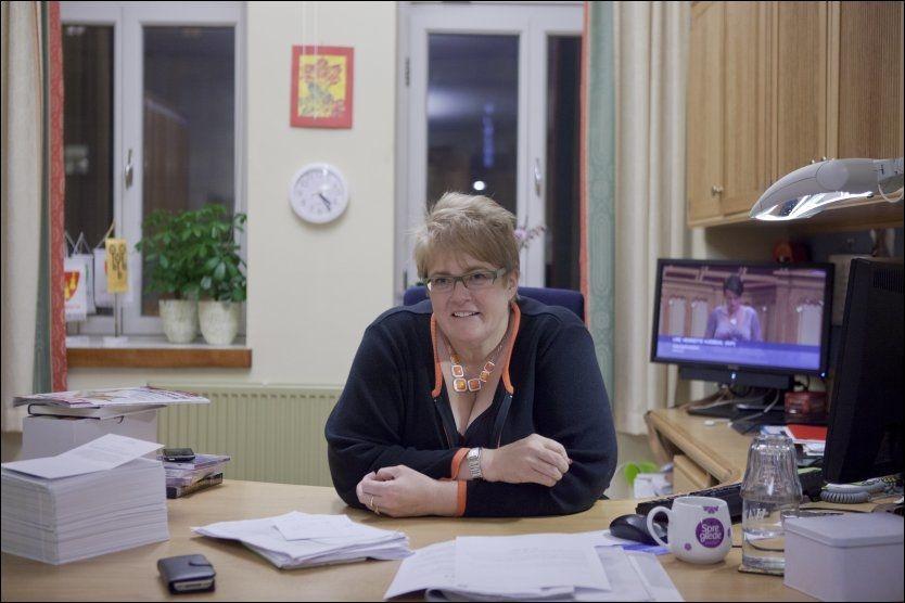 PÅ GLI BORT FRA AP: Venstre-leder Trine Skei Grande. FOTO: JAVAD M.PARSA/VG