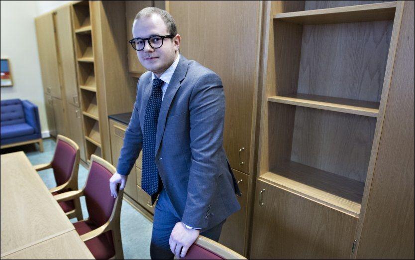 UTSPILL: Stortingsrepresentant Erik Skutle (24) fra Bergen. Foto: Roger Neumann