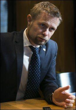 RESERVASJONS-BENT: Helseminister Bent Høie (H) foreslår å innføre reservasjonsrett. Foto: Jan Petter Lynau
