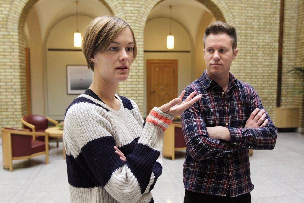 MISFORNØYD: Både stortingsrepresentant for Arbeiderpartiet, Anette Trettebergstuen, og AUF-leder Eskil Pedersen er oppgitt over kirkens vedtak. Foto: TROND SOLBERG