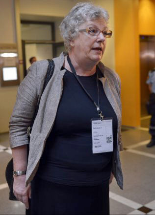 SKREV RAPPORT: Psykiater Randi Rosenqvist ved Ila fengsel. Foto: HELGE MIKALSEN