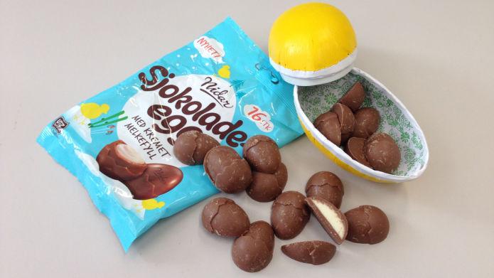 nidar sjokoladeegg melkefyll