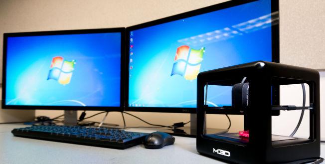 The Micro er liten nok til å få plass på pulten din. Foto: M3D
