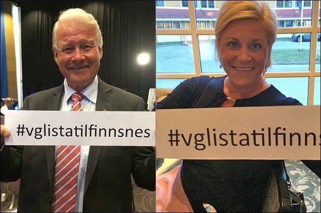 Carl I. Hagen og finansminister Siv Jensen vil ha VG-Lista til Finnsnes. Foto: LINE SANDBERG/INSTAGRAM