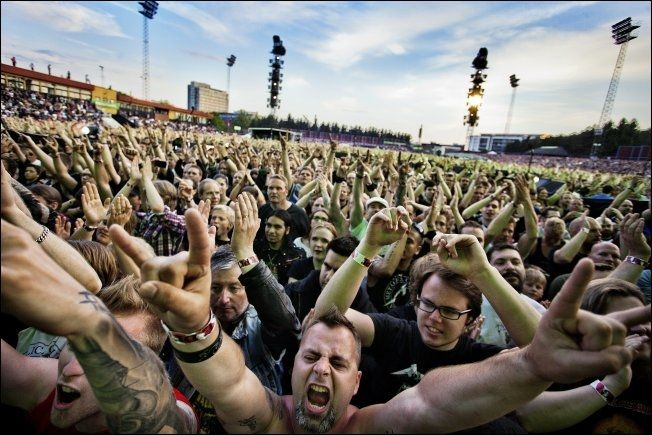 FANS: Det var god stemning når Metallica besøkte Valle Hovin i 2012. Foto: Øyvind Nordahl Næss/VG