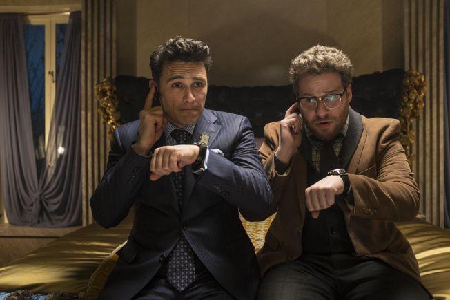 <p>«THE INTERVIEW»: F.v.: James Franco og Seth Rogen skal drepe Nord-Koreas leder i ny komedie som kommer til høsten. Det liker ikke Nord-Korea svært godt.<br/></p>