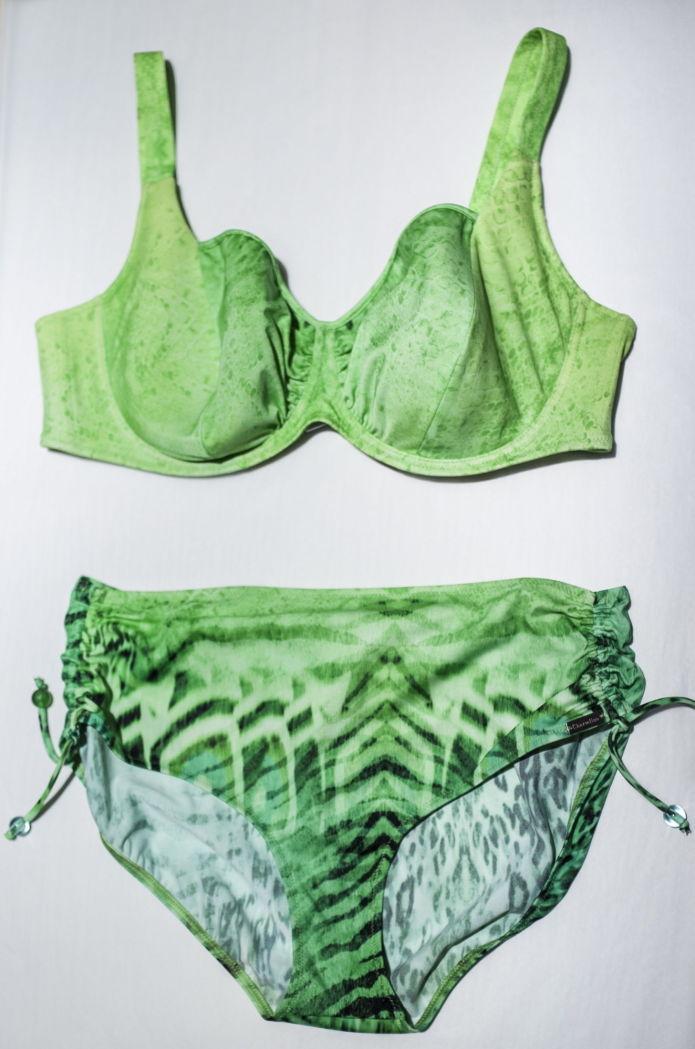 b87c0389 Som en smaragd: Våg å bruke farger som kler deg! Fra Charmline. kr. 1185  for settet. Det lille under. Alle bikinifoto: Therese Alice Sanne