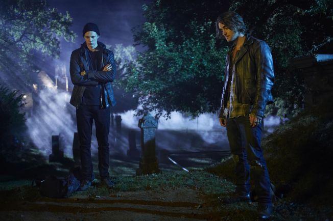 "<p> SEASON PREMIERE: Bill Skarsgård (left) and Landon Liboiron has a starring role in ""Hemlock Grove"" season 2 <br/> </ p>"