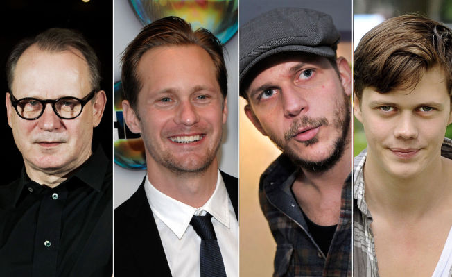<p> Skarsgard FAMILY: Stellan (left), Alexander, Gustaf and Bill are all actors.  Little brother Valter (18) is also an actor.  Photo: <br/> </ p>