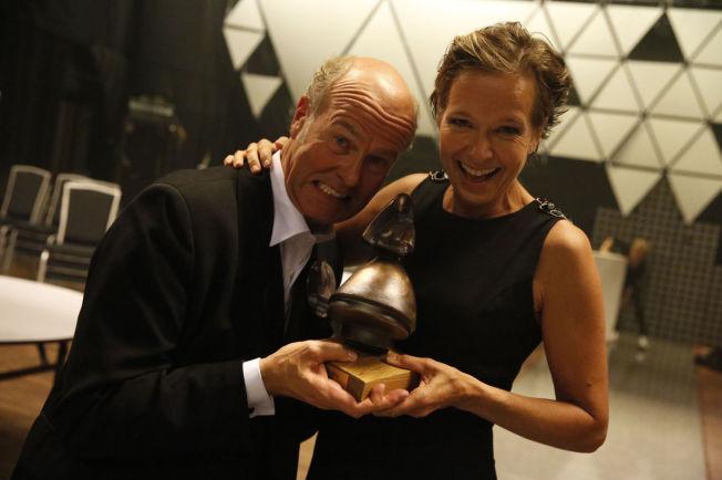 <p>ÅRETS BESTE: Erik Poppes «Tusen ganger god natt» vant Amanda for årets beste norske kinofilm - og juble fornøyd sammen med kona Kirsten.<br/></p><p/>