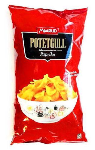 <p><b>Potetgull Paprika (Maarud)<br/></b></p><p><b>Akrylamid: 2232 mikrogram/kg</b></p>
