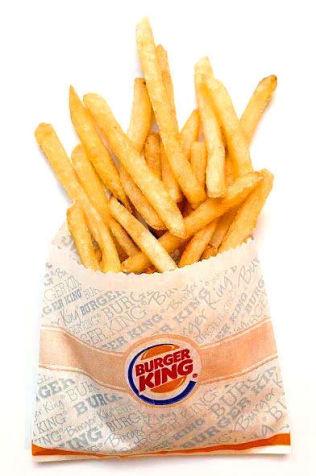 <p><b>Pommes Frites (Burger King)<br/></b></p><p><b>Akrylamid: 616 mikrogram/kg</b></p>