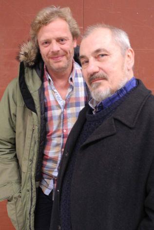 <p>REGISSØR Gunnar Vikene og Bjørn Sundquist under innspillingen av «Her er Harold».<br/></p>