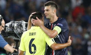<p>FOR STOR: Thiago motta og PSG ble for store for Xavi og Barcelona i kveld.<br/></p>