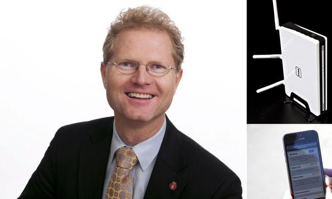 <p>STRÅLE-DINGSER: En trådløs ruter og en smarttelefon er blant dingsene stortingsrepresentant Tor André Johnsen (Frp) advarer mot. Pressebilde / illustrasjonsfoto.<br/></p>