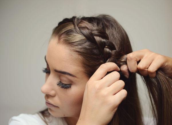 fletter til langt hår