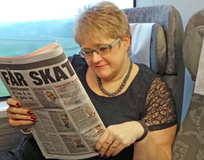NØTT: Venstre-leder Trine Skei Grande begynner tirsdag morgen å forhandle med regjeringspartiene om statsbudsjettet. Hun tror formuesskatten blir den store nøtten.