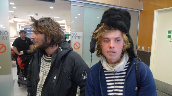 <p>OVERLEVDE: Jarle Andhøy og Samuel Massie (th) var på vei til Sydpolen da «Berserk» gikk ned. Dette bildet er tatt i Christchurch på New Zealand få dager etter forliset.<br/></p>