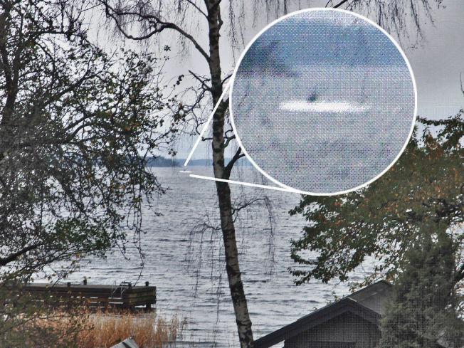 <p>MISTENKELIG OBJEKT: Det svenske forsvaret ga ut dette bildet på en pressekonferanse.</p>