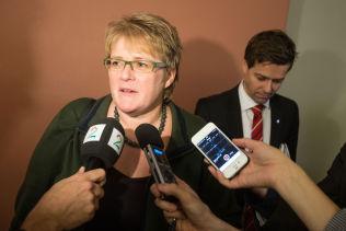 <p>POSE-MOR? Venstre-leder Trine Skei Grande foreslo poseavgift, men visstnok ikke så sterkt at hun vil ha æren/skylda for at det faktisk blir innført.<br/></p>