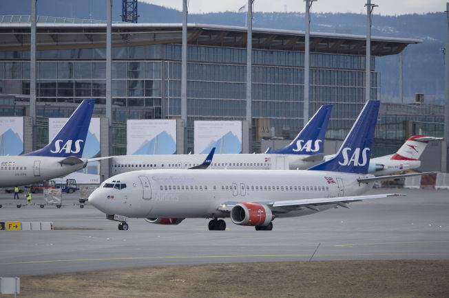 <p>STREIKEFARE: SAS-fly kan bli rammet av streik dersom partene i LFF og NHO Luftfart ikke kommer til enighet i morgendagens mekling. FOTO: ESPEN BRAATA</p>