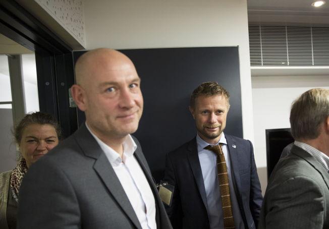 ISFRONT: Helseminister Bent Høie, sammen med Trond Michael Andersen, i 2013. Ett år senere ville han at styret i Helse Midt-Norge skulle sparke Andersen.