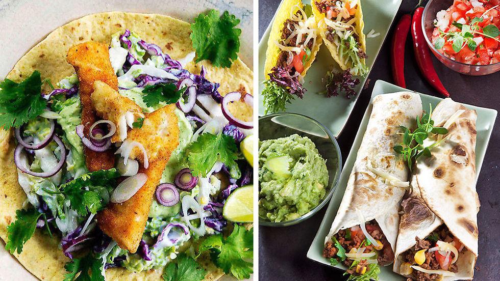 tacoskjell oppskrift