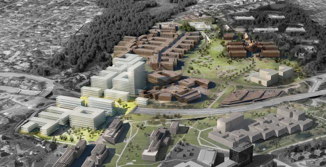 <p><b>«CAMPUS OSLO:»</b> Slik ser det foreslåtte nye storsykehuset på Gaustad ut etter de planer Oslo universitetssykehus jobber etter. - Det haster med å komme i gang med realisering av ny og helhetlig plan for Oslo-sykehusene, skriver kronikkforfatteren.</p>