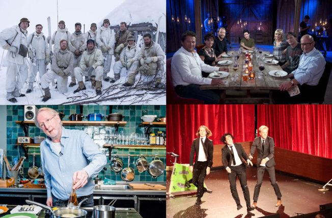 <p>SEERMAGNETER: «Kampen om tungtvannet», «Hver gang vi møtes», «Hellstrøm» og Ylvis er alle flaggskip for hver sine TV-kanaler.</p><p><br/></p>