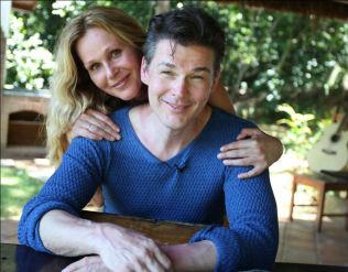 <p>MOBBET: Morten Harket møtte Dorthe Skappel i Rio de Janeiro i januar 2012.Foto: TV 2</p>