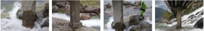 <p>SLITEN: Pilarene på Furubergfossen bro i Sunndal i Hordaland har omfattende avskalling og forvitring, og blottlagte armeringsjern. Antakelig har steinras noe avskylden, står det i rapporten fra vegvesenet. Foto: STATENS VEGVESEN</p>