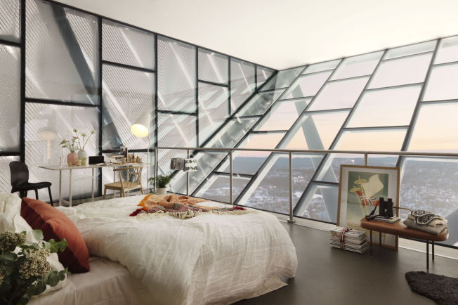 <p>SLIK BLI DET: Topprommet gjøres om til designleilighet og leies ut gjennom Airbnb.<br/></p>