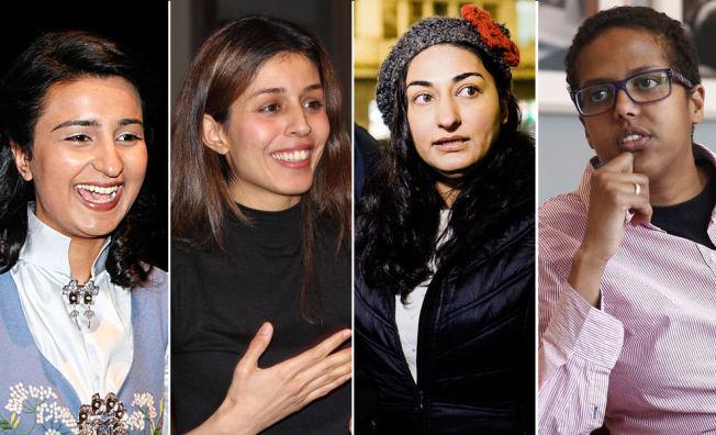 HETSET: Både Bushra Ishaq, Mina Adampour, Shabana Rehman Gaarder og Amal Aden har opplevd å bli truet for sine uttalelser. Aden ble nylig bedt av politiet om å dempe seg og ikke provosere.