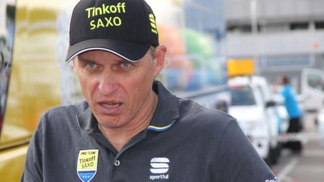 <p>VODKAKLOVN? Oleg Tinkov får passet påskrevet i danske aviser etter at Bjarne Riis ble suspendert.</p>