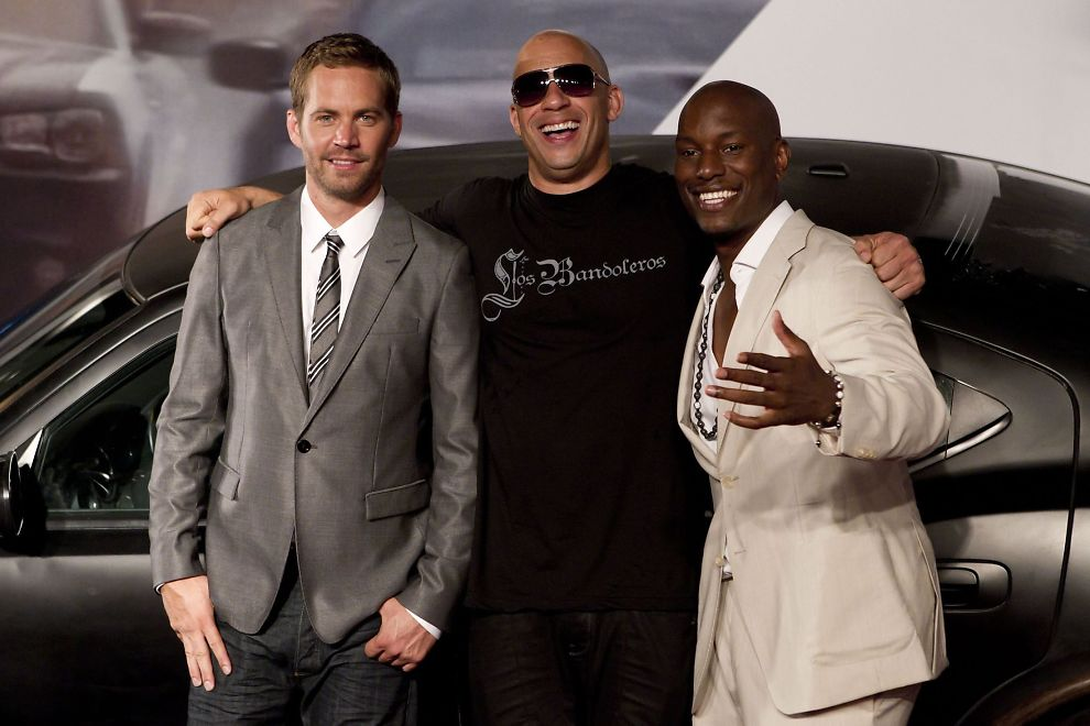 Something is. vin diesel and tyrese gibson the word
